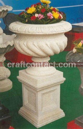 石雕花钵 中式花钵雕刻 仿古青石花钵批发