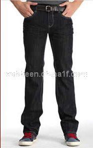 卡宾直筒牛仔裤