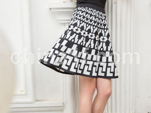 幾何圖形半身裙