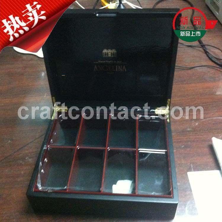 黑色多格木制小礼盒 食品木盒定做 保健品木盒