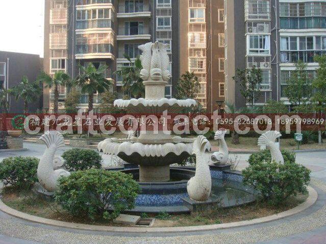 专业雕刻喷泉厂家 室外石雕喷泉 花岗岩喷泉水钵水景 厂家直销