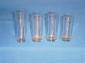 原�S供��透明玻璃杯 水杯 啤酒玻璃杯含�w子 �料玻璃杯