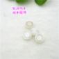 【欣卓供应】供应双层树脂镀金钮扣 白色雪纺衫针织衫纽扣